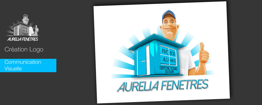 serious team 360 pour Aurélia Fenetres création de logo