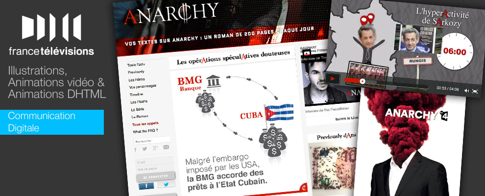 serious team 360 pour projet ANARCHY : Illustrations, Animations vidéo & Animations DHTML