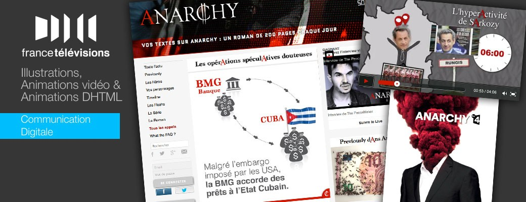 projet Anarchy : Illustrations, Animations vidéo et Animations DHTML