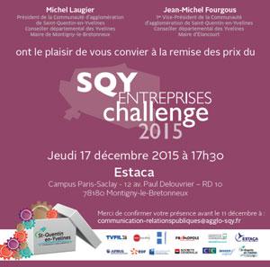 Prix Entreprises SQY 2015 Saint-Quentin-En-Yvelines badge
