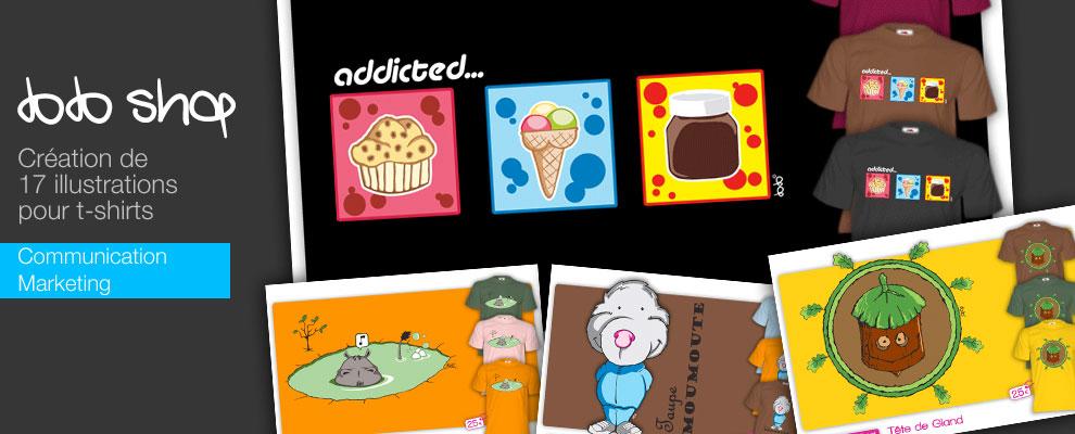 serious team 360 pour Dodoshop : création d'illustrations pour t-shirts