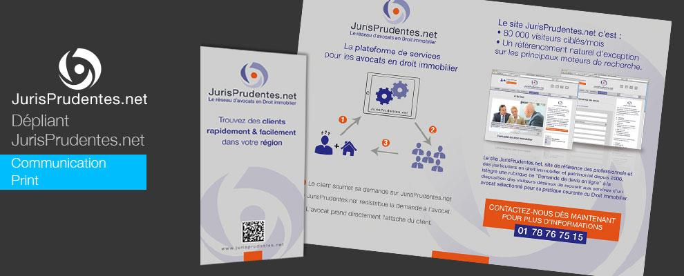Création du dépliant leaflet Jurisprudentes