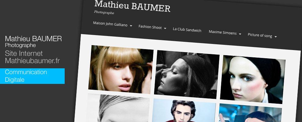 Création du site internet de Mathieu BAUMER
