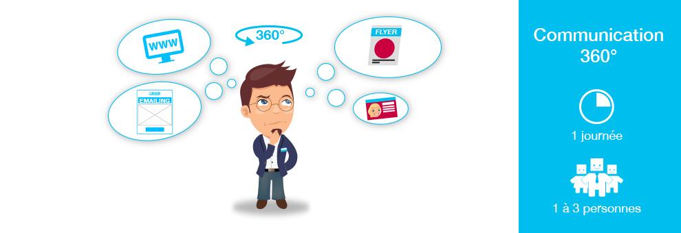 Serious 360° Comment et pourquoi mettre en place votre communication 360° en seulement 1 journée. 770€ht / entreprise